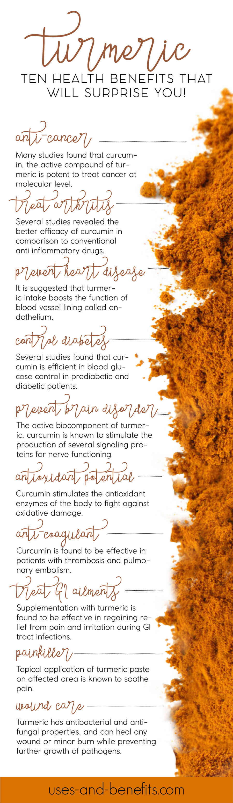 Top surprising health benefits of turmeric