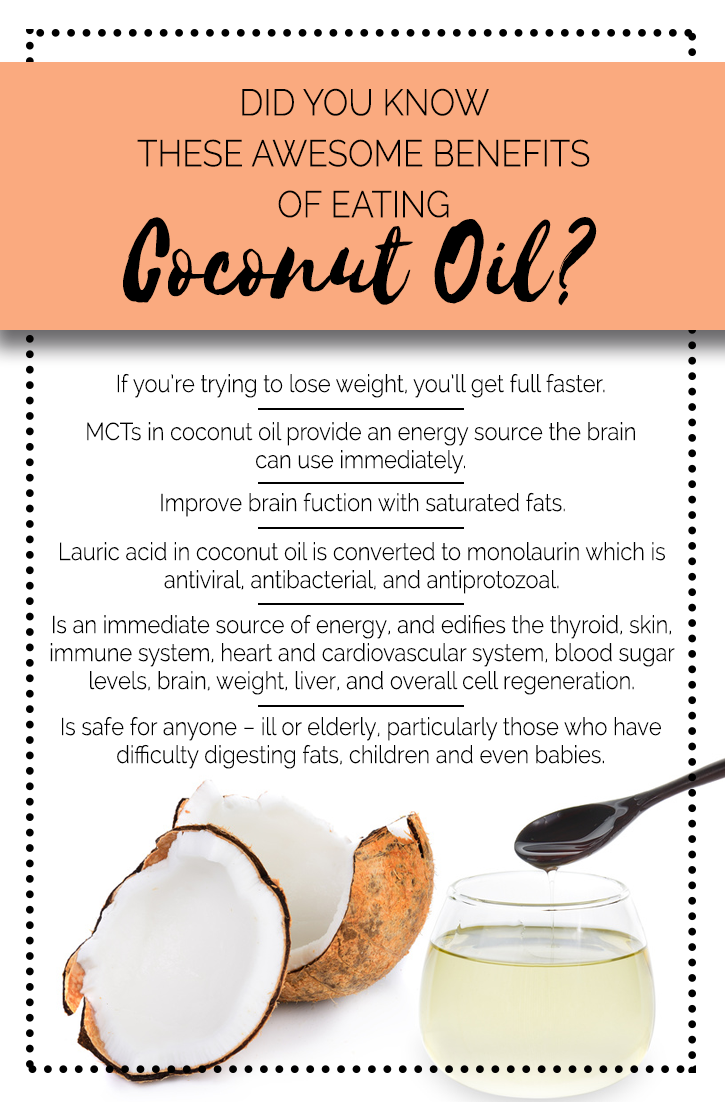 benefits eating coconut oil