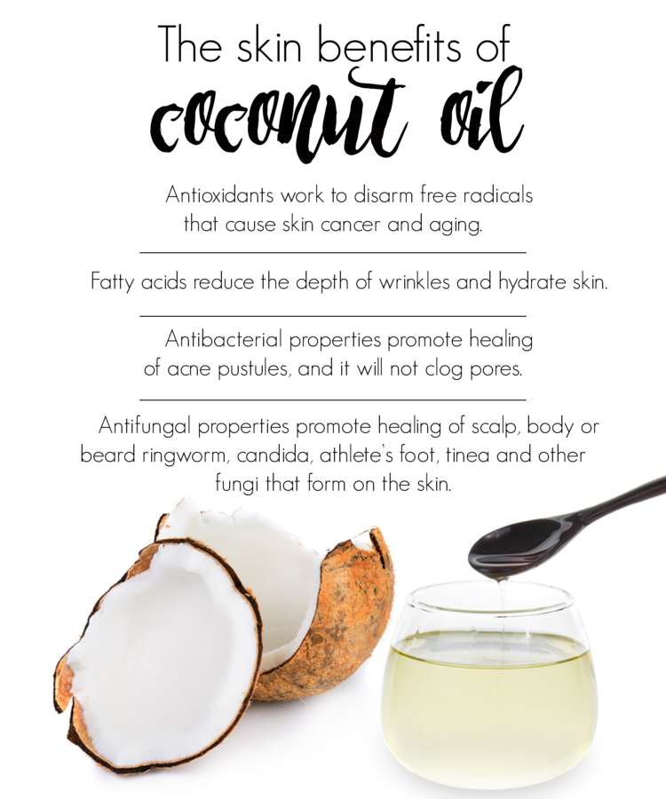 benefits of coconut oil on skin