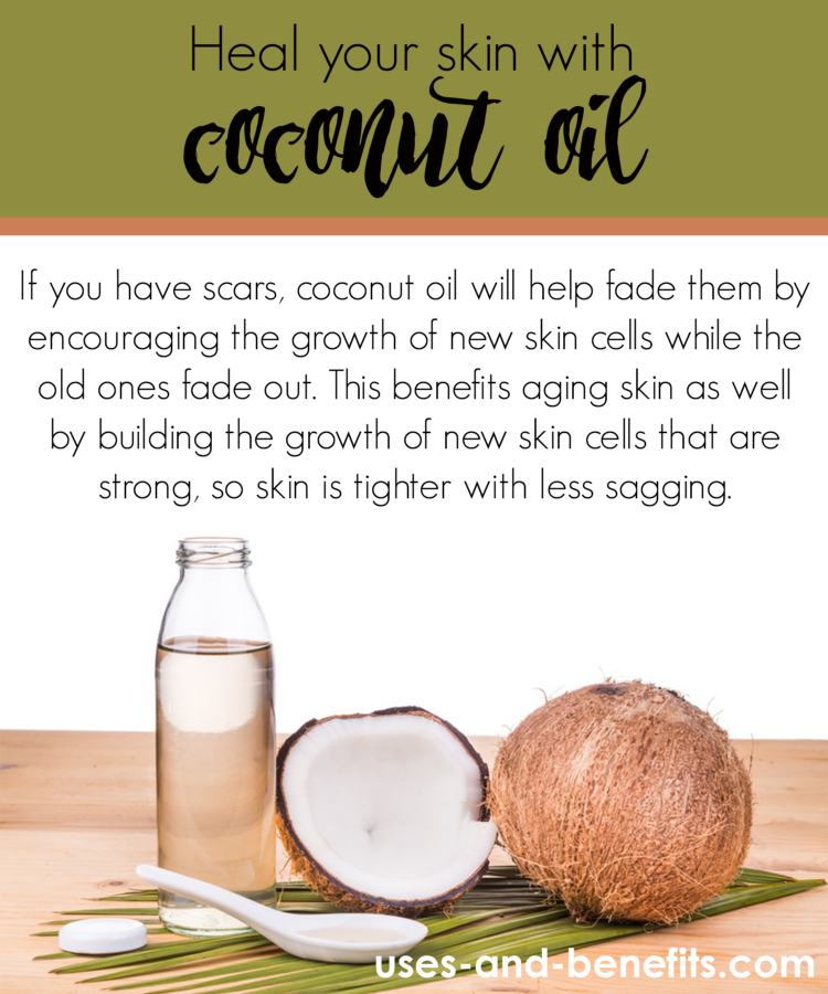 coconut oil on skin