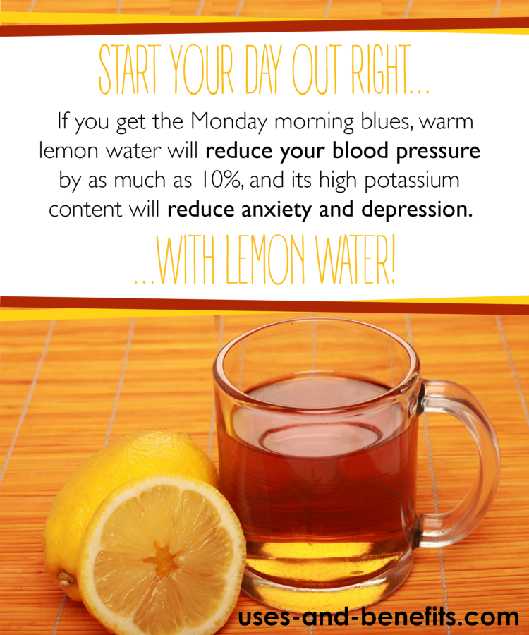 lemon water in the morning